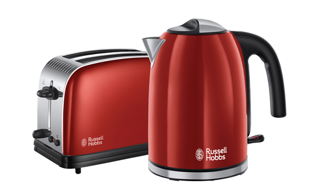 Give your kitchen a colour boost by updating your kettle and toaster