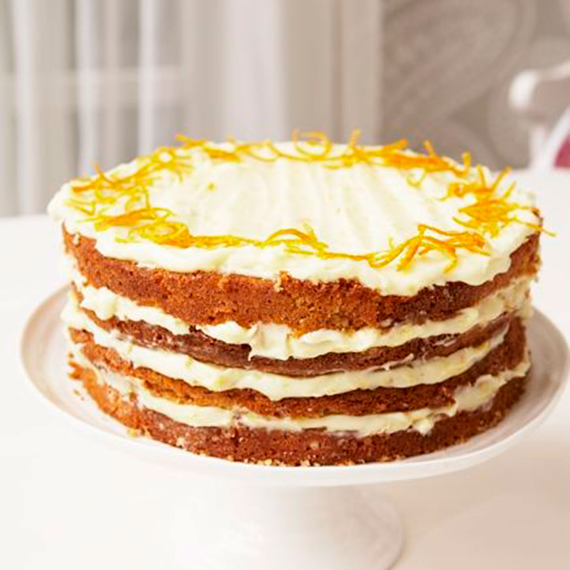 Carrot Cake With Orange Cream Cheese Frosting Woman And Home