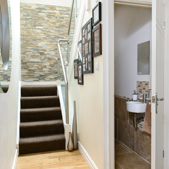 5 clever uses for the space under your stairs for Bathroom designs under stairs