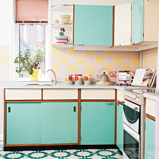 ways to get a totally retro kitchen