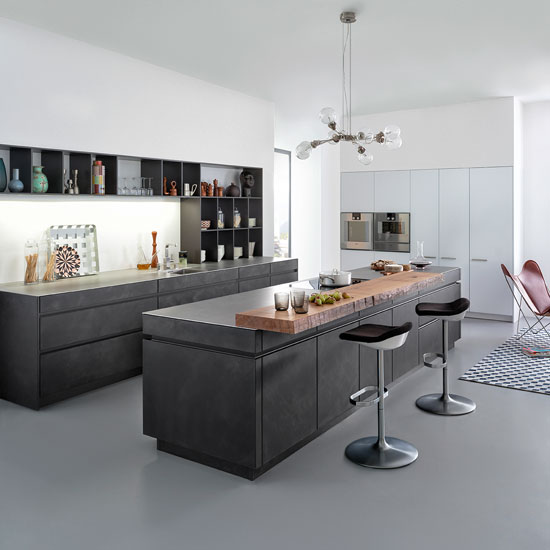 create an industrial style kitchen with concrete. Black Bedroom Furniture Sets. Home Design Ideas