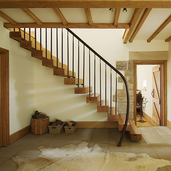 How To Use Space Under The Staircases: Country Staircases