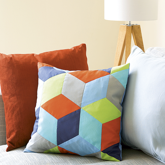 Sew An Easy Patchwork Cushion In 3 Steps