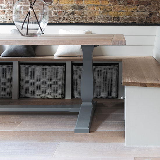 This Is Interesting And A Little Different. I Like The Wooden Seat And  Matching Wooden Table. | Kuchnia | Pinterest | Wooden Tables, Bench And  Kitchens
