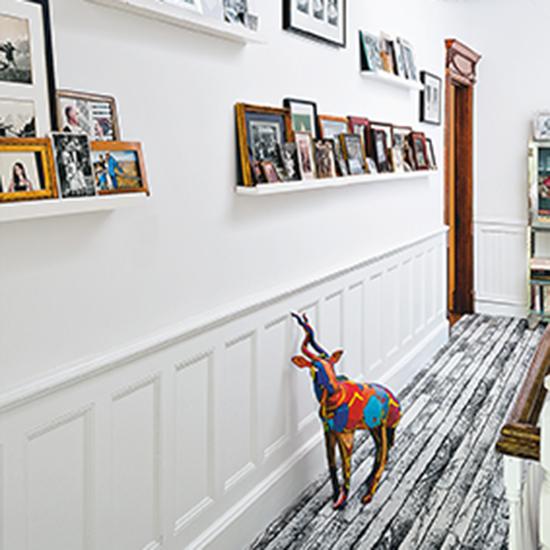 creative ways to hang photos. Black Bedroom Furniture Sets. Home Design Ideas