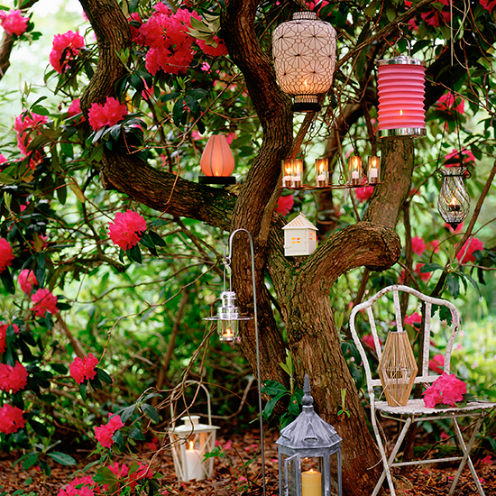 Outdoor garden space Ideas to make your outside space  : Lanterns from www.housetohome.co.uk size 550 x 550 jpeg 530kB