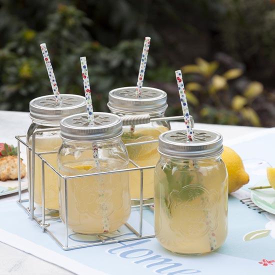 summer trend glass jars. Black Bedroom Furniture Sets. Home Design Ideas