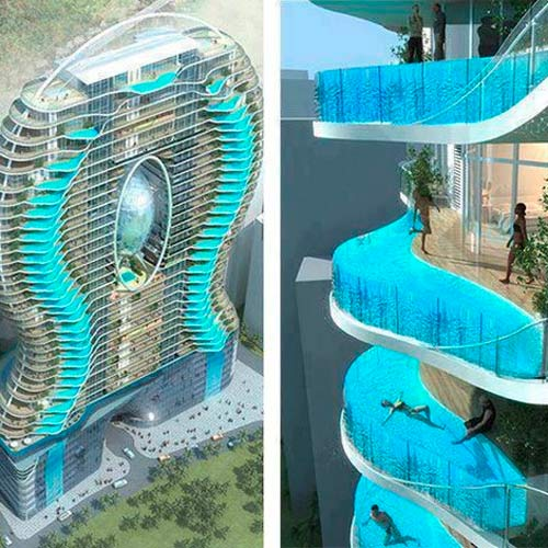The most jaw dropping swimming pools ever - The sky pool a deluxe adventure ...