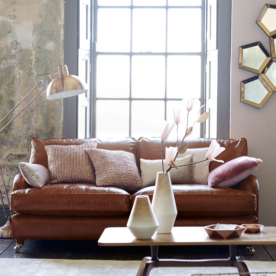 Leather Sofas At Dfs: Style Guide To Leather Sofas