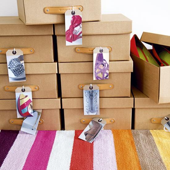 Ideas para organizar zapatos en cajas