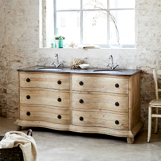 7 lovely ways to decorate your country bathroom Double sink washstand