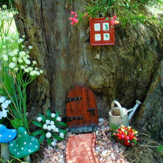 Fairy doors in the garden for Irish fairy garden