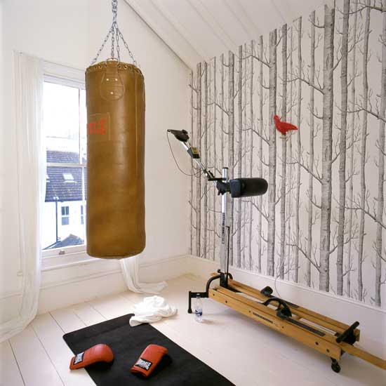 Chic home gym decorating ideas
